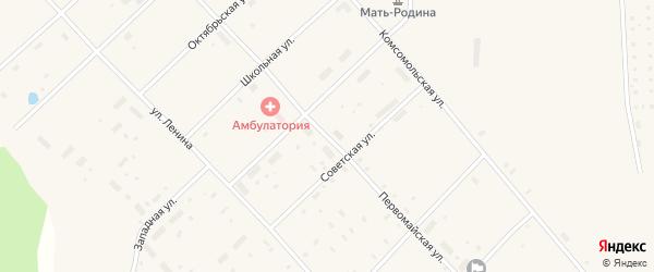 Первомайская улица на карте поселка Пуксоозеро с номерами домов