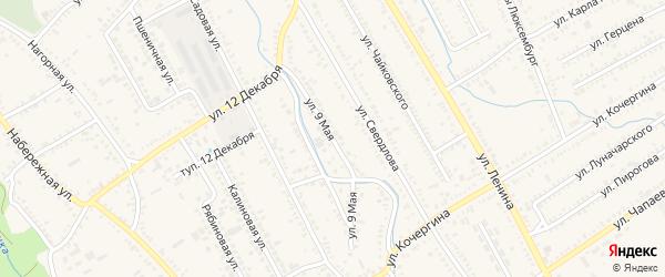 9 Мая улица на карте Курганинска с номерами домов