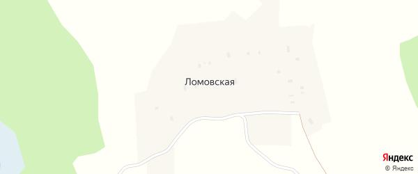 Зеленая улица на карте Ломовской деревни Ярославская области с номерами домов