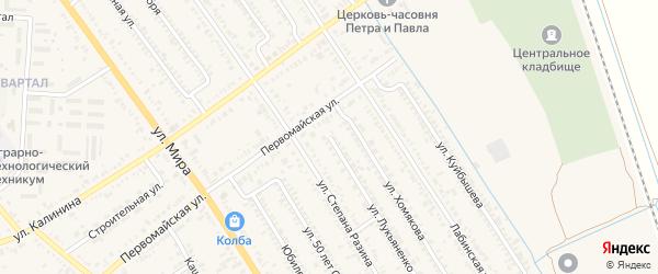 Улица Лукьяненко на карте Курганинска с номерами домов