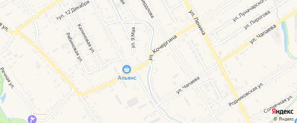 Улица О.Кошевого на карте Курганинска с номерами домов