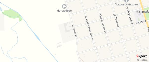 Степная улица на карте села Натырбово Адыгеи с номерами домов