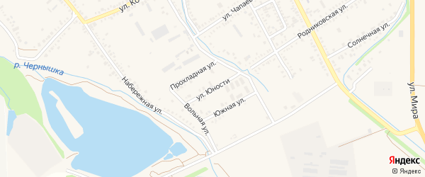 Улица Юности на карте Курганинска с номерами домов