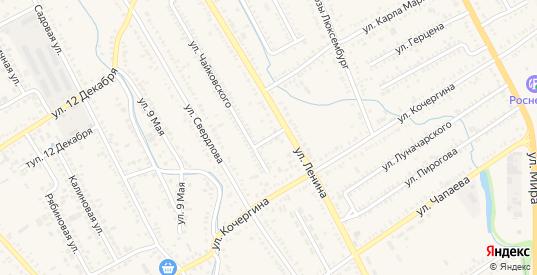 Переулок Чайковского в Курганинске с номерами домов на карте. Спутник и схема онлайн