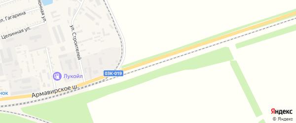 Армавирское шоссе на карте Курганинска с номерами домов
