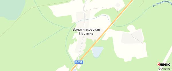 Садовое товарищество Золотниковская Пустынь на карте Тейковского района Ивановской области с номерами домов