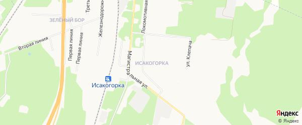 Карта населенного пункта КИЗ Исакогорки города Архангельска в Архангельской области с улицами и номерами домов
