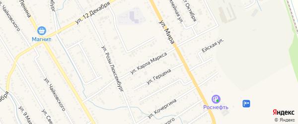 Улица К.Маркса на карте Курганинска с номерами домов