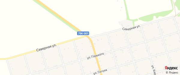 Северная улица на карте села Натырбово Адыгеи с номерами домов