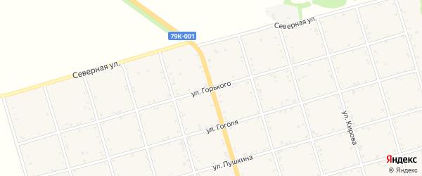 Улица Горького на карте села Натырбово Адыгеи с номерами домов
