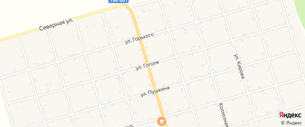 Улица Гоголя на карте села Натырбово с номерами домов