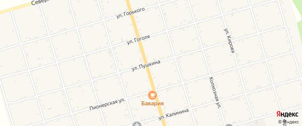 Улица Пушкина на карте села Натырбово Адыгеи с номерами домов