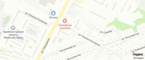 Улица Полины Осипенко на карте Архангельска с номерами домов