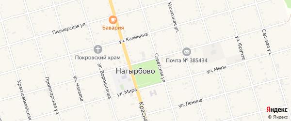 Улица Ямпольского на карте села Натырбово Адыгеи с номерами домов