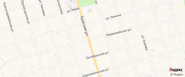 Первомайская улица на карте села Натырбово Адыгеи с номерами домов