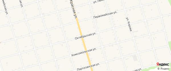 Октябрьская улица на карте села Натырбово Адыгеи с номерами домов
