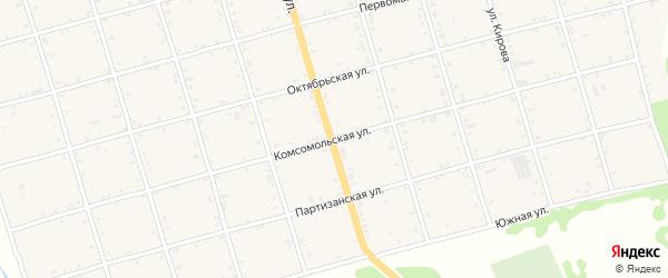 Комсомольская улица на карте села Натырбово Адыгеи с номерами домов