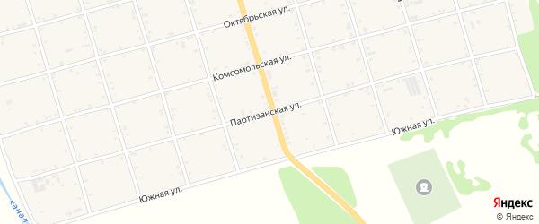 Партизанская улица на карте села Натырбово Адыгеи с номерами домов