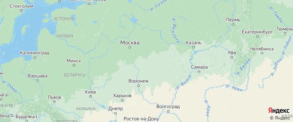 Карта Рязанской области с городами и районами