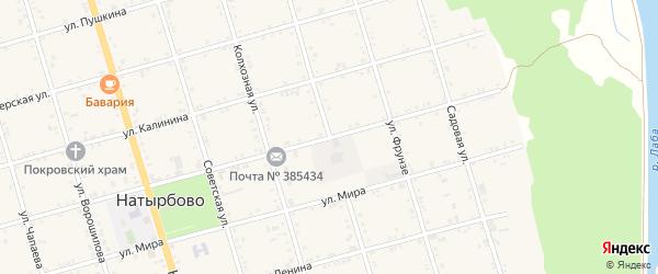 Улица Кирова на карте села Натырбово Адыгеи с номерами домов