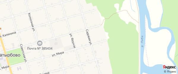 Садовая улица на карте села Натырбово Адыгеи с номерами домов