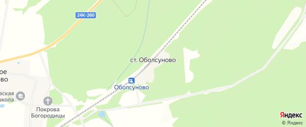 Карта станции Оболсуново в Ивановской области с улицами и номерами домов