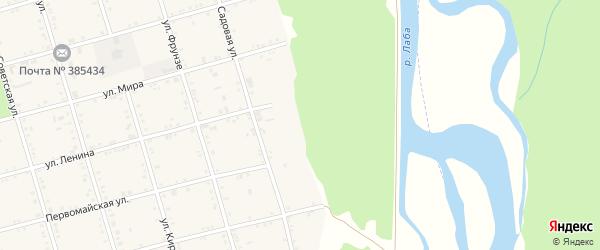 Набережная улица на карте села Натырбово Адыгеи с номерами домов