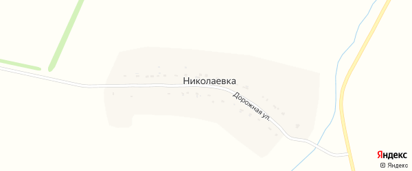 Дорожная улица на карте деревни Николаевки Рязанской области с номерами домов