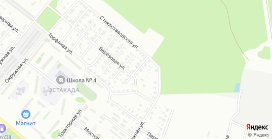 Березовая 1-й проезд в Гусе-Хрустальном с номерами домов на карте. Спутник и схема онлайн