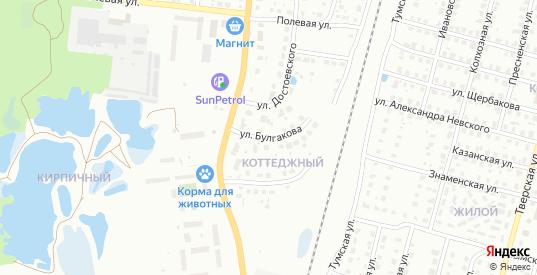 Улица Булгакова в Гусе-Хрустальном с номерами домов на карте. Спутник и схема онлайн
