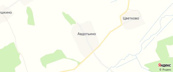Карта деревни Авдотьино в Владимирской области с улицами и номерами домов