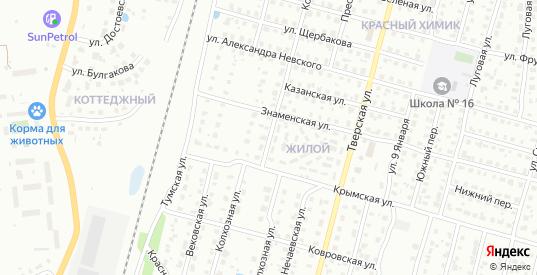 Колхозная улица в Гусе-Хрустальном с номерами домов на карте. Спутник и схема онлайн