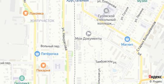 Владимирская улица в Гусе-Хрустальном с номерами домов на карте. Спутник и схема онлайн