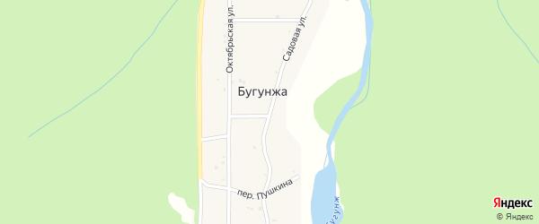 Садовая улица на карте поселка Бугунжи Краснодарского края с номерами домов