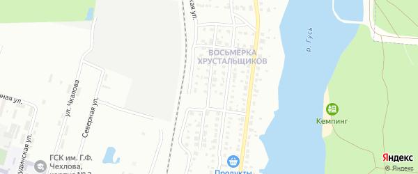 Приозерная улица на карте Гуся-Хрустального с номерами домов