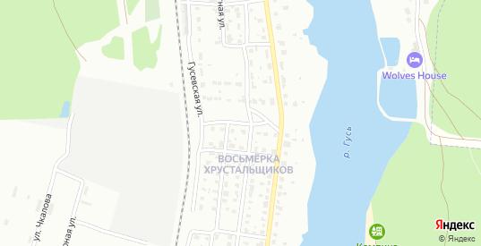 2-й Речной переулок в Гусе-Хрустальном с номерами домов на карте. Спутник и схема онлайн