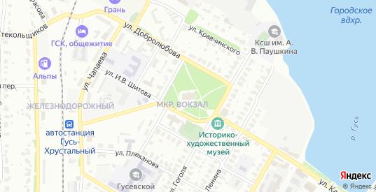 Территория Район гаражей ГСК-3 в Гусе-Хрустальном с номерами домов на карте. Спутник и схема онлайн