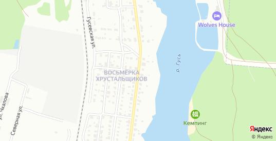 Набережная улица в Гусе-Хрустальном с номерами домов на карте. Спутник и схема онлайн
