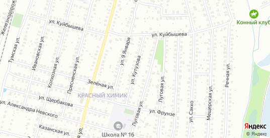 Улица Кутузова в Гусе-Хрустальном с номерами домов на карте. Спутник и схема онлайн
