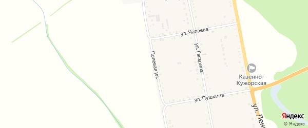 Полевая улица на карте Казенно-Кужорского хутора Адыгеи с номерами домов