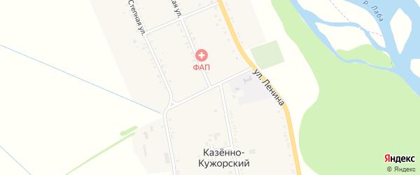 Улица Ленина на карте Казенно-Кужорского хутора Адыгеи с номерами домов
