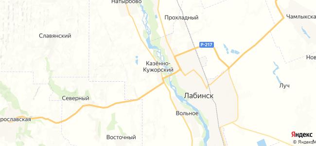 Казенно-Кужорский на карте