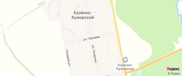 Улица Чапаева на карте Казенно-Кужорского хутора с номерами домов
