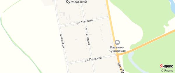 Улица Гагарина на карте Казенно-Кужорского хутора Адыгеи с номерами домов