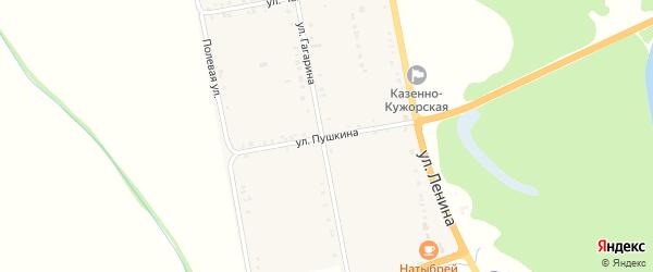 Улица Пушкина на карте Казенно-Кужорского хутора Адыгеи с номерами домов