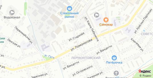 Прядильная улица в Гусе-Хрустальном с номерами домов на карте. Спутник и схема онлайн
