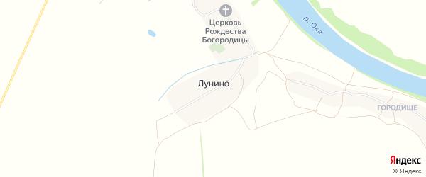 Карта села Лунино в Рязанской области с улицами и номерами домов