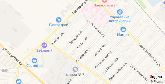 Улица Гоголя в Гулькевичах с номерами домов на карте. Спутник и схема онлайн