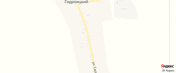 Улица Свободы мира на карте Кармолино-Гидроицкого хутора Адыгеи с номерами домов