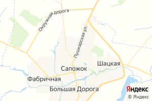 Карта пгт Сапожок Рязанская область